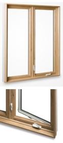 wood on pvc window casements